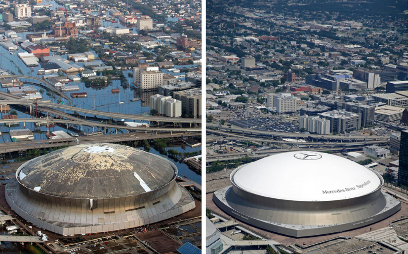 New Orleans in 2005 and 2015